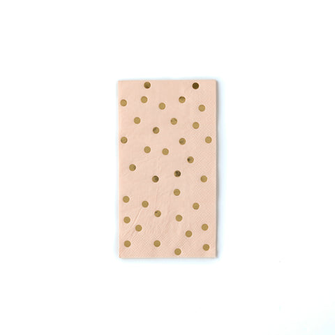 Blush Polka Dot Dinner Napkins