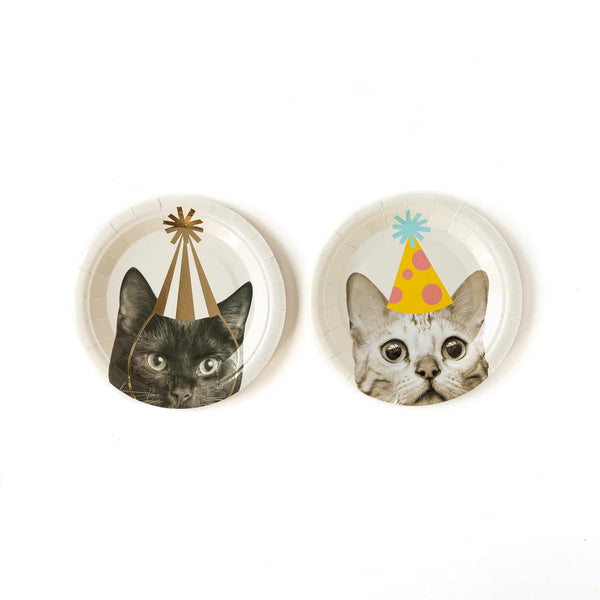 "Party Animals Cat 7"" Plates"