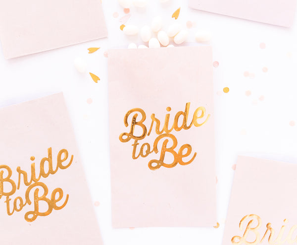 Paper Love Bride to Be Treat Bags