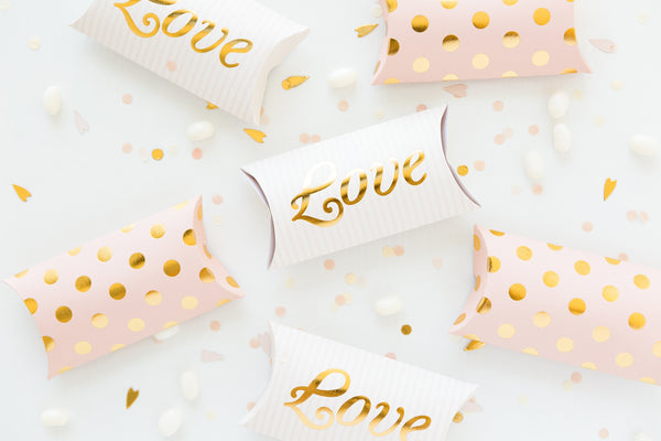 Paper Love Bride to Be Pillow Boxes
