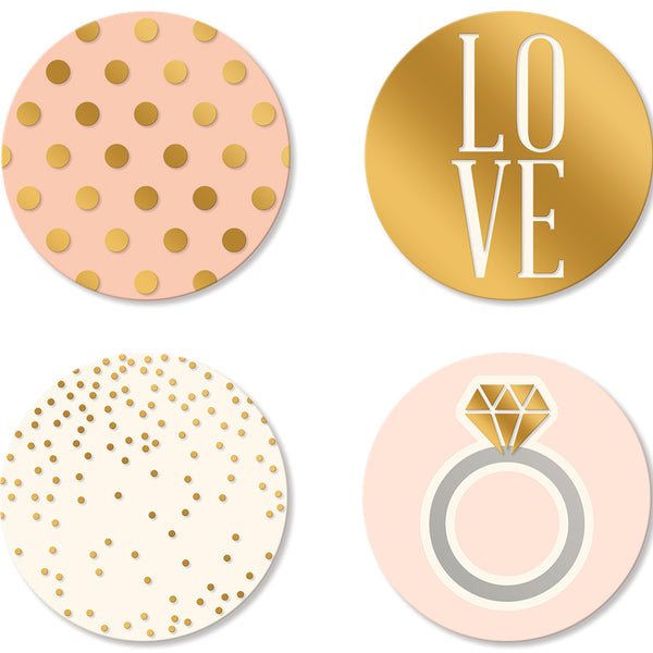 Paper Love Bride to Be Coasters