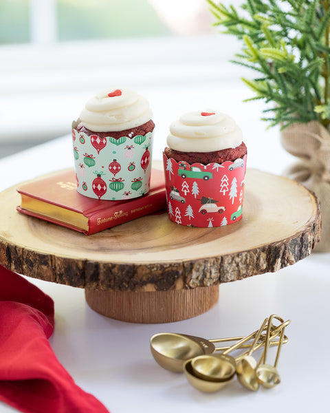 Ornaments & Trucks Baking Cups