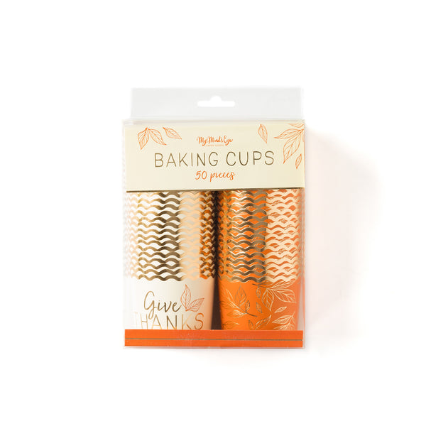 Foiled Give Thanks Baking Cups