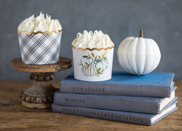Foiled Cream Pumpkins Baking Cups
