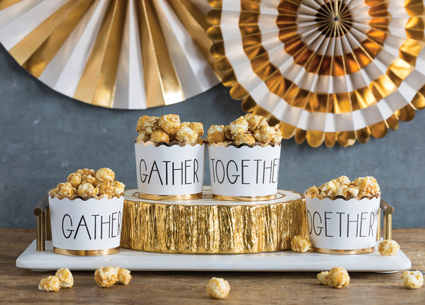 Foiled Block Gather/Together Baking Cups