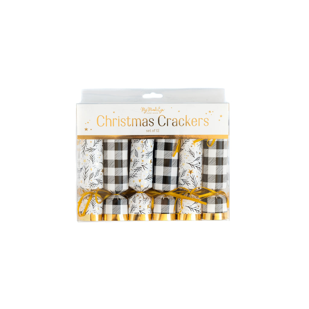 Black & White Party Crackers