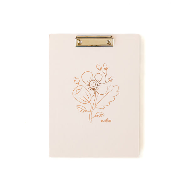 Rose Gold Flower Padfolio