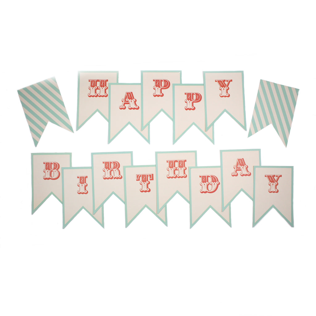 paper love carnival happy birthday letter banner