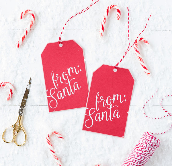 From Santa Over-sized Tag Set