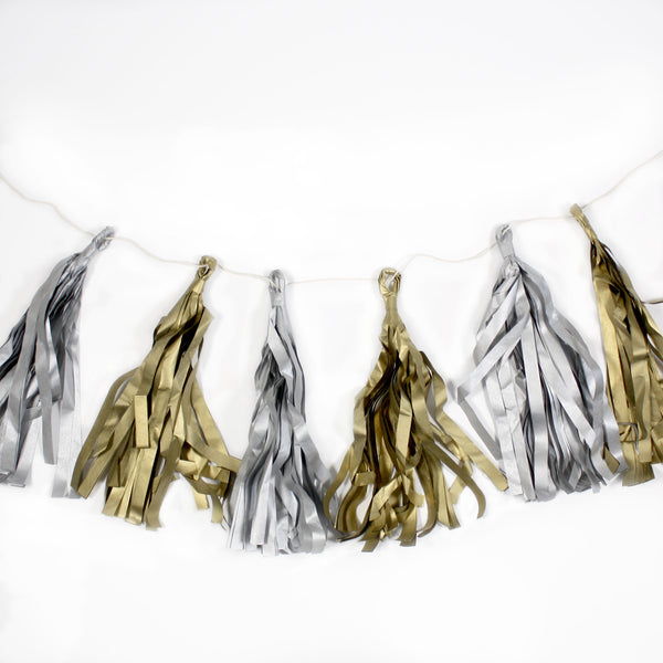Paper Love - Metallics Birthday Tassel Banner