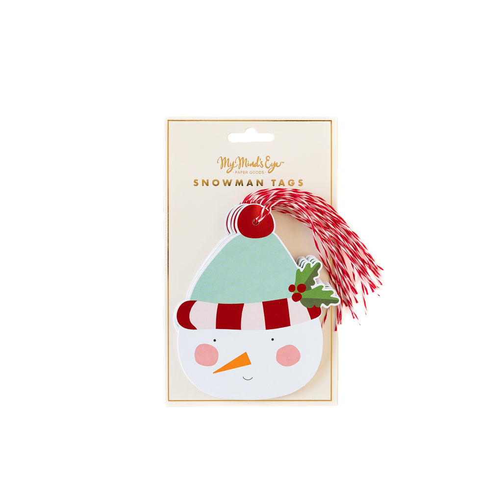 Holly Jolly Snowman Over-sized Tag Set