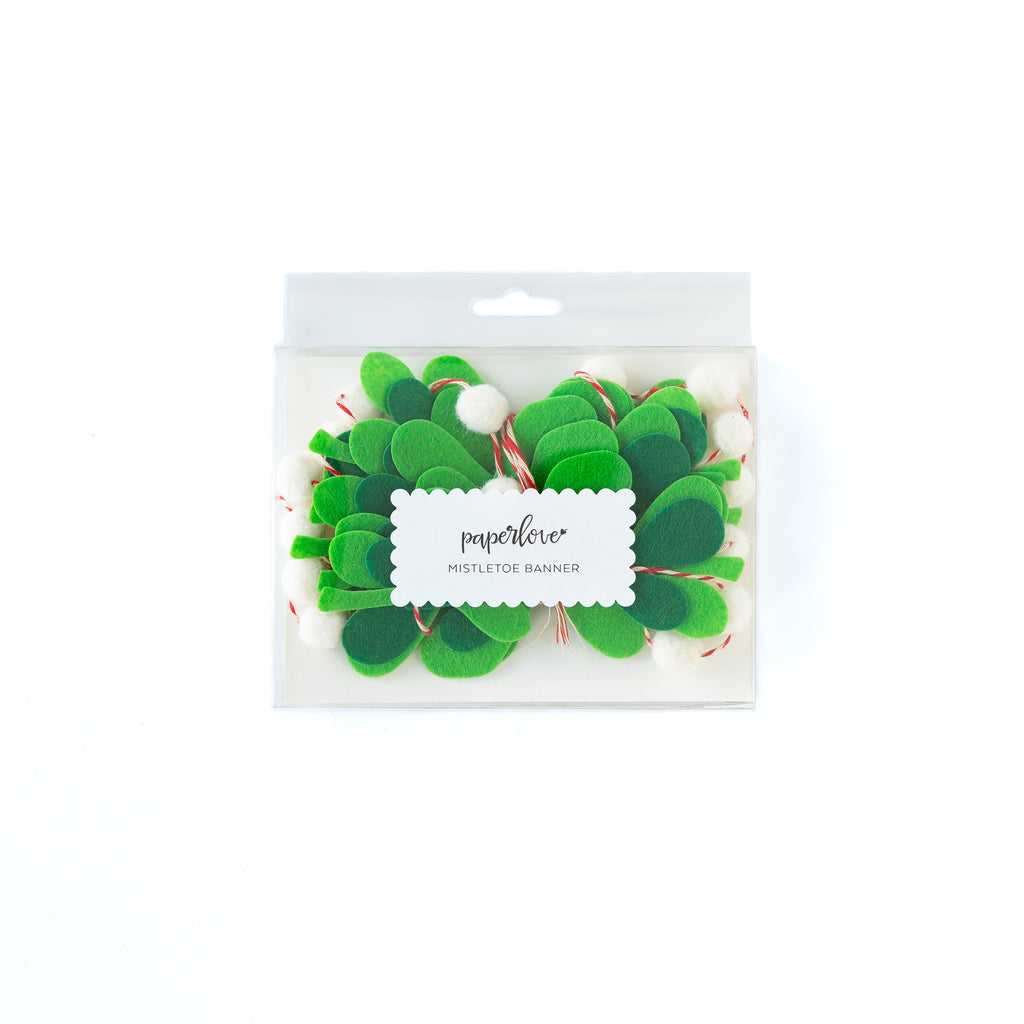 Holly Jolly Mistletoe Felt Banner Packaging