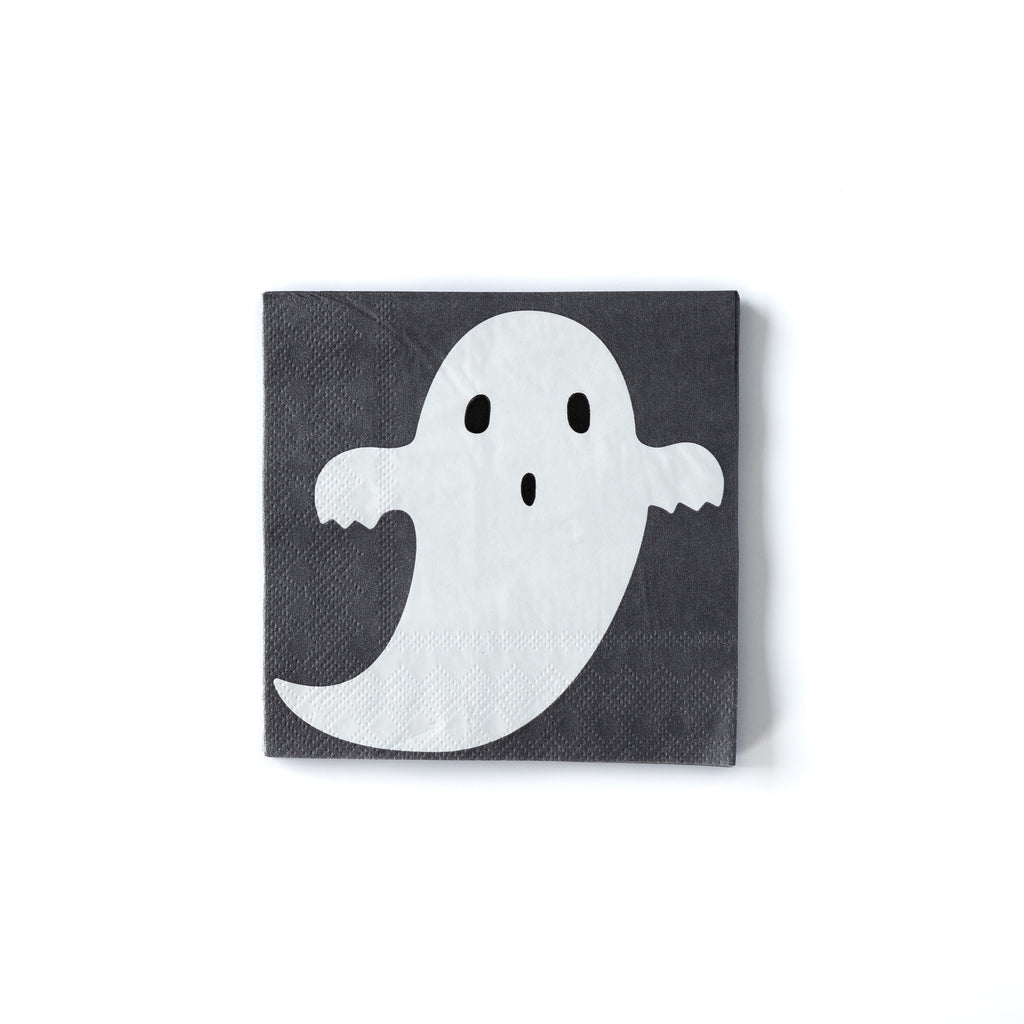 top down shot of the 5 inch ghost napkin