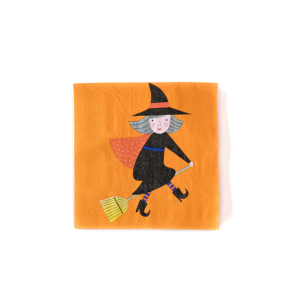 top down shot of the 5 inch witch napkin