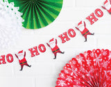 Jolly Santa Banner Backdrop