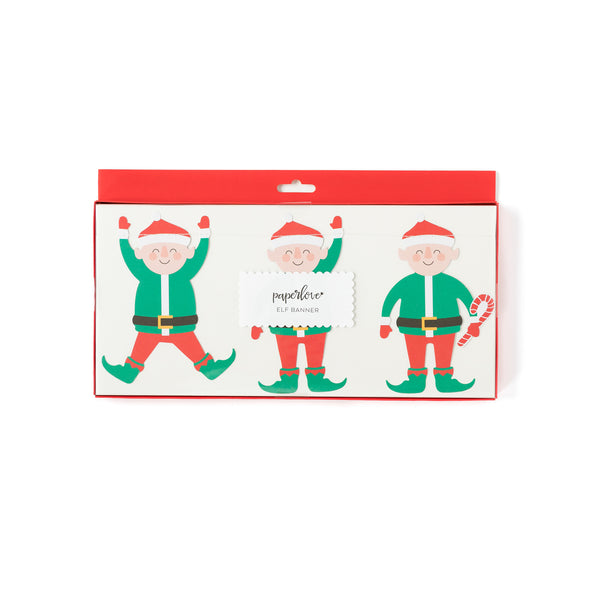 Jolly Santa Elf Banner Packaging