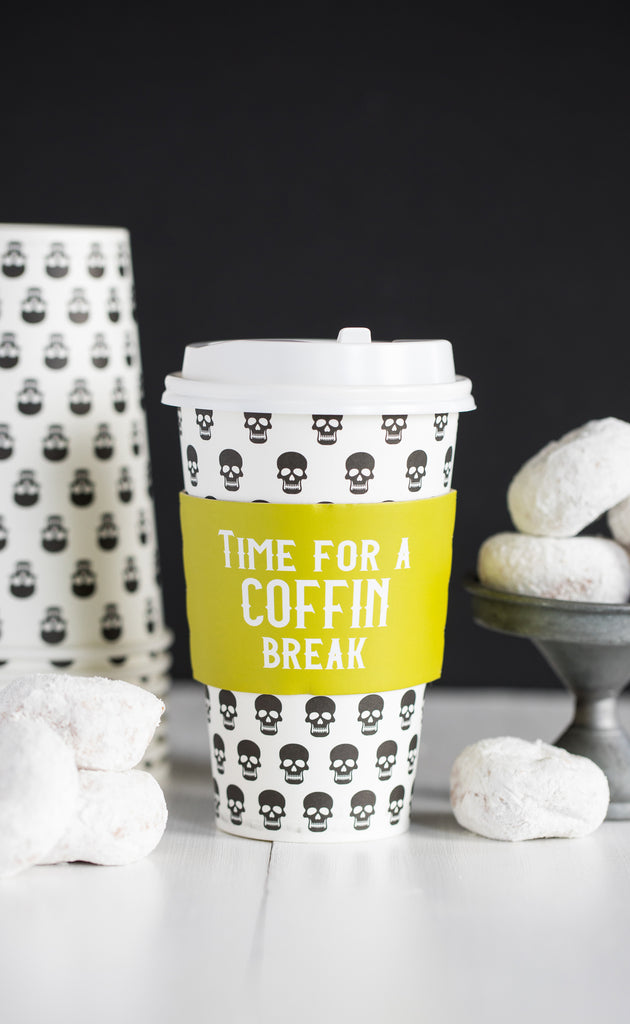 Coffin Break Coffee Cups 8 count