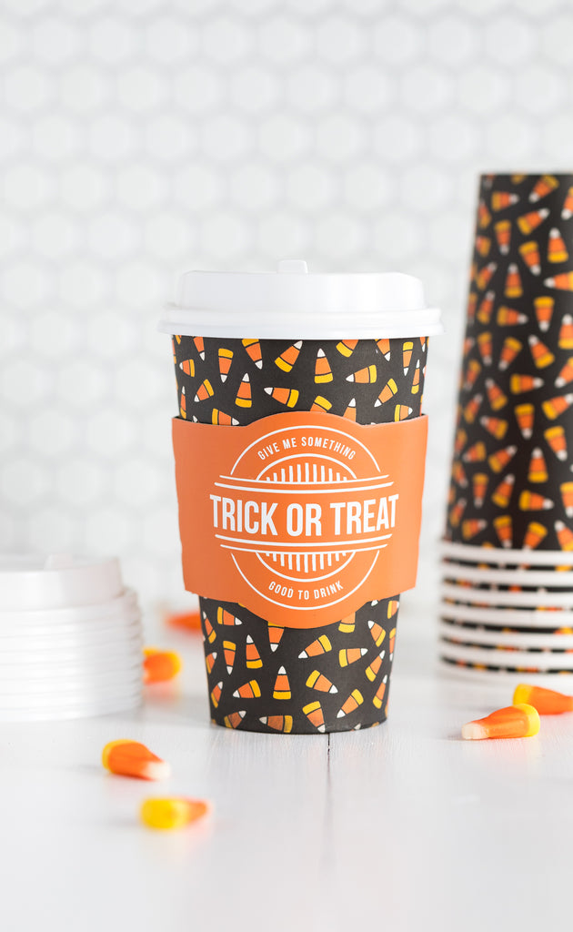 Candy Corn Coffee Cups 8 count