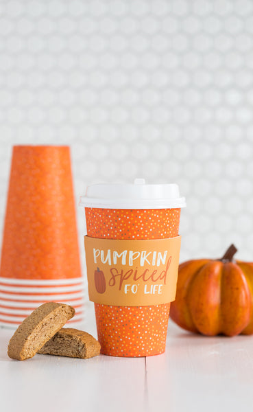 Pumpkin Spiced Fo' Life Coffee Cups 8 count