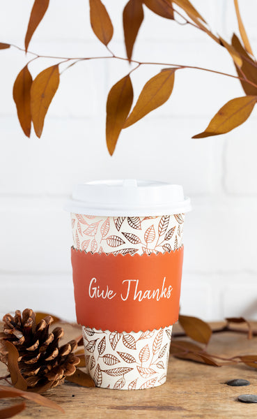 Give Thanks Coffee Cups 8 count