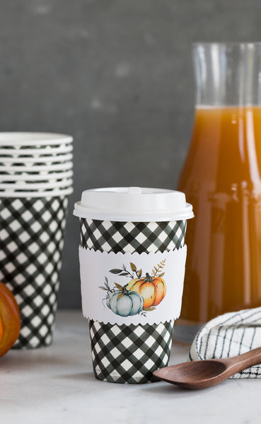 Blue Harvest Pumpkins Coffee Cups 8 count