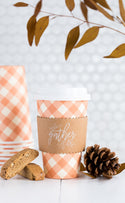 Gingham Gather Coffee Cups 8 count