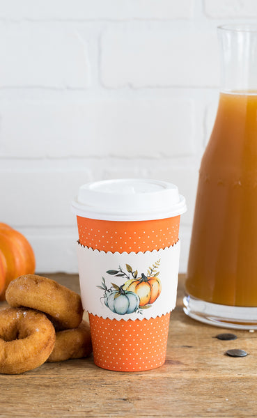 Pumpkins Coffee Cups 8 count
