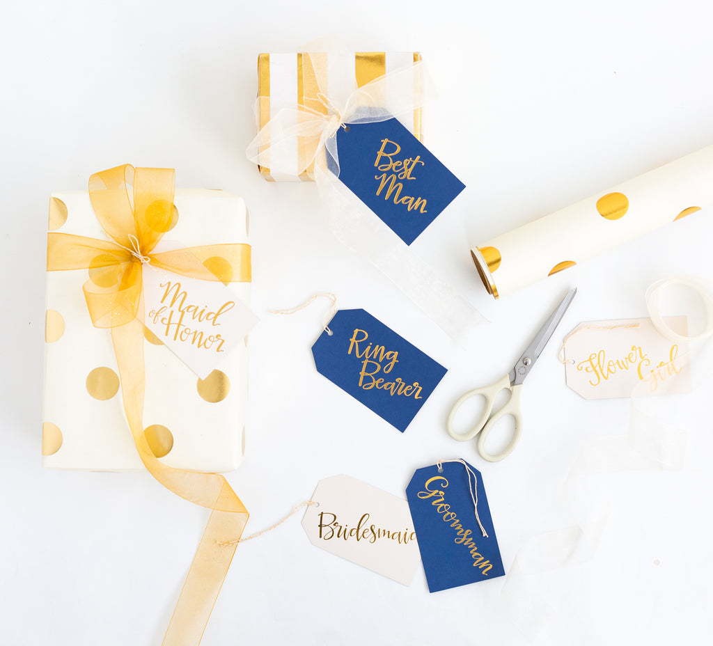 Paper Love Navy Wedding Oversized Tags