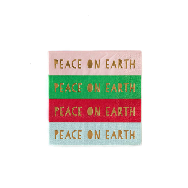 Foiled Peace on Earth Cocktail Napkin