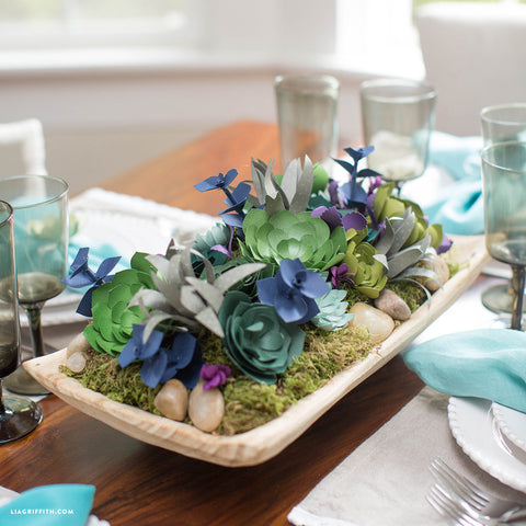 Lia Griffith Paper Succulent Center Piece Kit