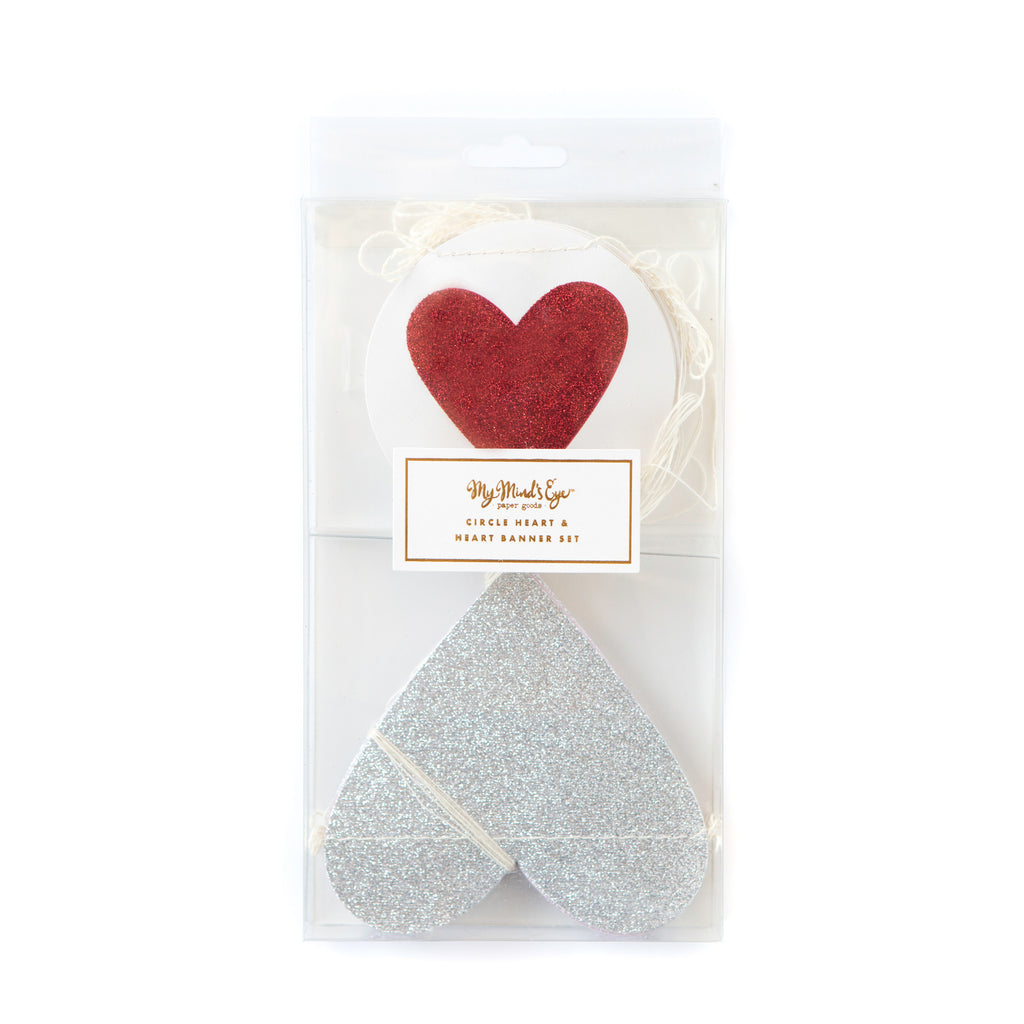 Valentines Heart Banner Set Packaging