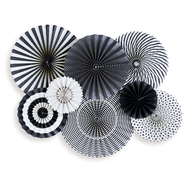 Black & White Party Fans - BWP205