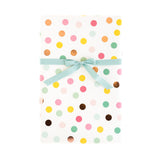 Hooray Multi-Color & Rose Gold Foil Dots Wrapping Paper Sheets