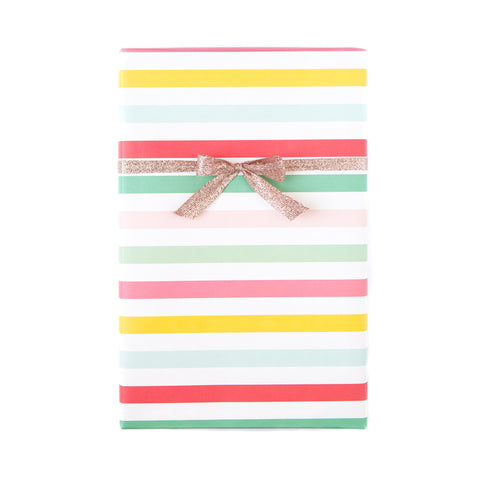 Hooray Circus Stripe / Red Pink Dot Wrapping Paper Sheets