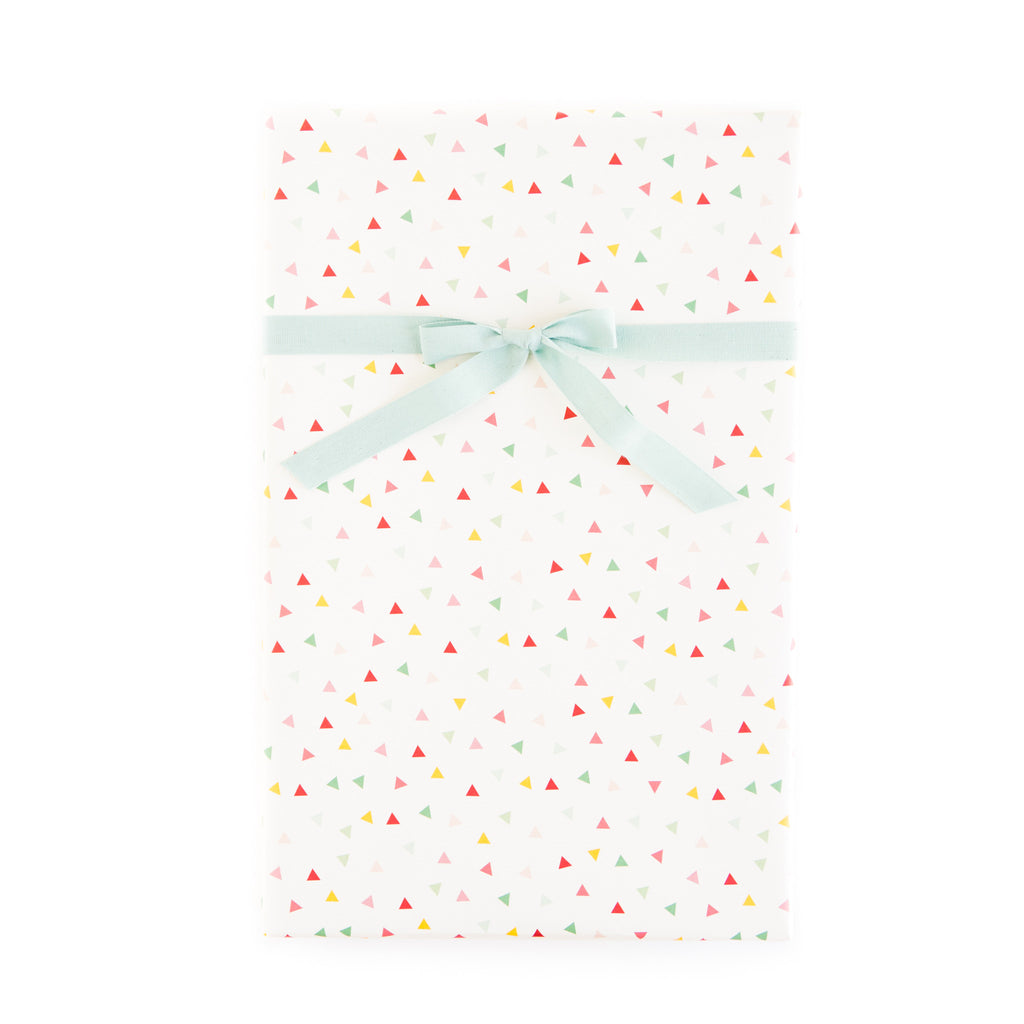 PGW312 Gift Wrap Sheets - Hooray Confetti / Mint Pin Stripe