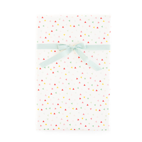 Hooray Confetti / Mint Pin Stripe Wrapping Paper Sheets
