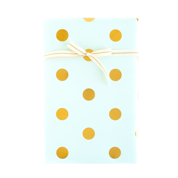 PGW302  Gift Wrap Sheets - Trend Mint with Gold Foil Dots