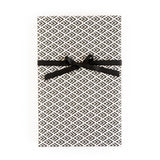 Black and White Arrow Geo/Mini Dot Wrapping Paper Sheets