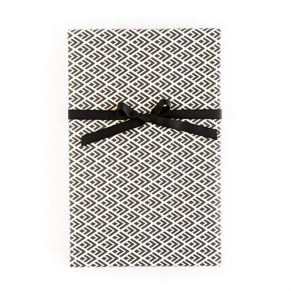 PGW308 Gift Wrap Sheets - Black and White Arrow Geo/Mini Dot