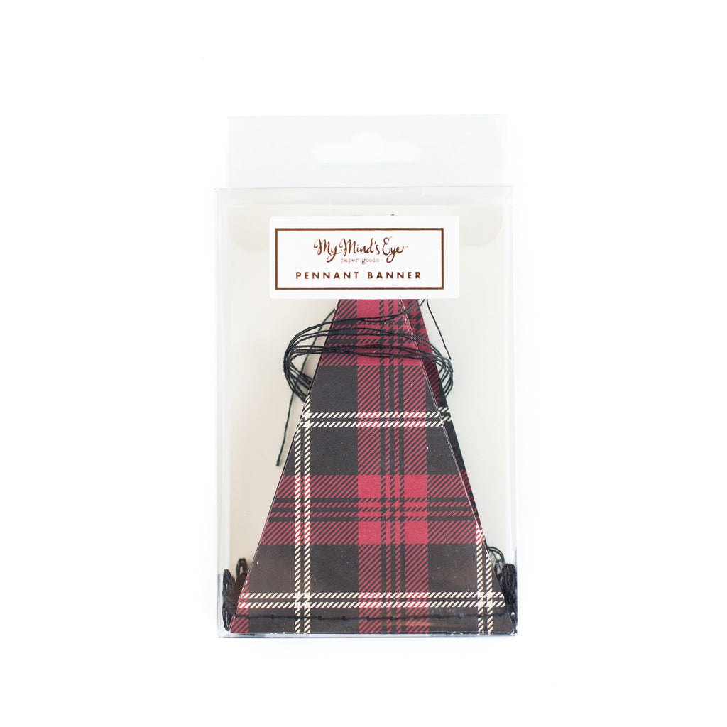 Plaid Pennat Banner