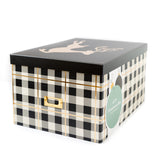 Plaid Christmas Ornament Storage Box