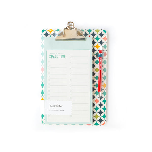 Paper Love Retro Mini Clipboard To Do List With Pen