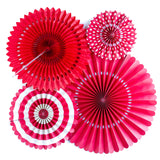 Basics Party Fans-Red