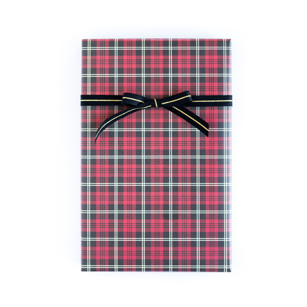 Plaid Tartan / Cabana Stripe Wrapping Paper Sheets