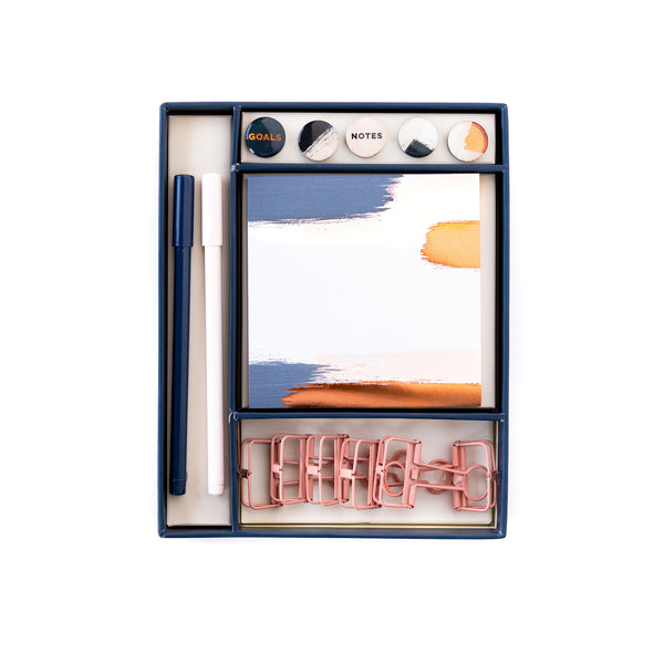 Paper Love Brushed Copper Small Desk Set