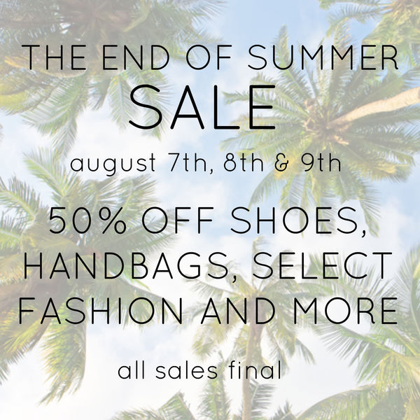The End of Summer Sale