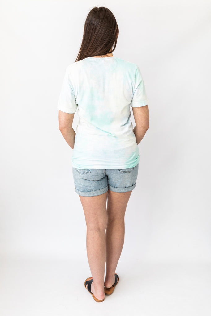Be Kind Tee - Blue Tie Dye