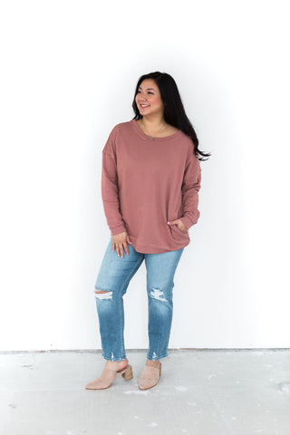 Super Soft Sweater with Exposed Seams -