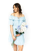 Ruffled Dress - Blue