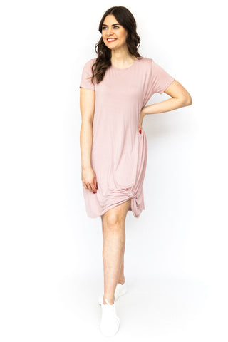 V-Back Textured Babydoll - Pink